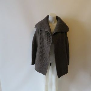 VINCE GREY CHUNKY CABLE KNIT CARDIGAN SWEATER XS *
